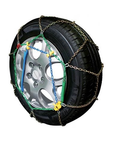 Snow Chains for Car Tyres 195/55-17 R17 Special Mesh, 9 mm, Approved