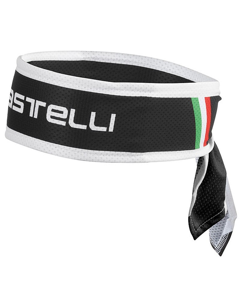 Castelli Fascia Testa Ciclismo, Nero (Taglia Unica)