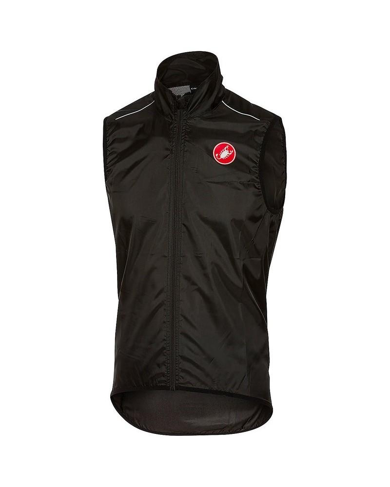 Castelli Squadra Windproof Men's Cycling Vest, Black