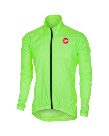 Castelli Squadra ER Windproof Men's Cycling Jacket, Yellow Fluo
