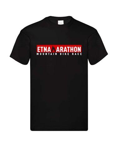 Etna Marathon Logo Kids T-Shirt, Black