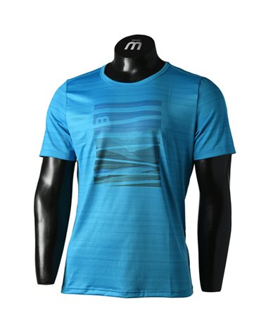 Mico Extra Dry Outdoor Men's Round Neck Short Sleeve Baselayer, Light Blue