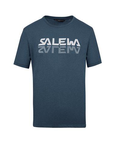 Salewa Reflection Dry Men's Alpine Trekking Short Sleeve Tee, Premium Navy Melange