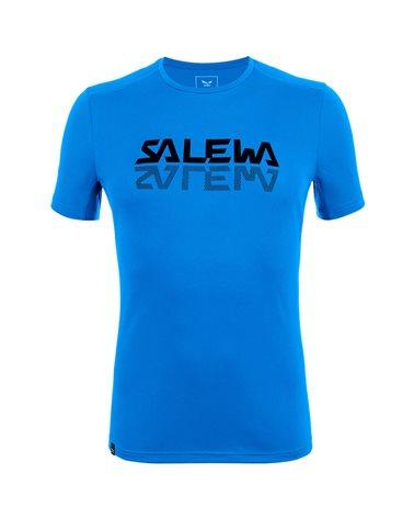 Salewa Sporty Graphic Dry Men's Speed Hiking Short Sleeve Tee, Cloisonne/0910