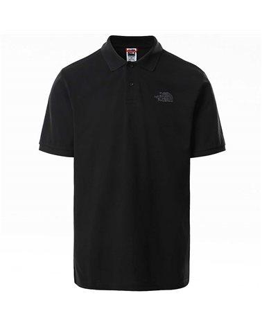 The North Face Piquet Men's Short Sleeve Polo Shirt, TNF Black