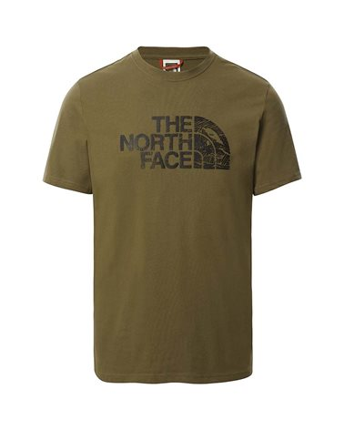 The North Face Woodcut Dome Men's T-Shirt, Military Olive
