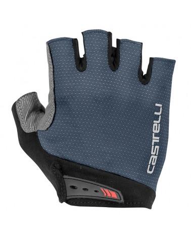 Castelli Entrata Men's Cycling Short Fingers Gloves, Dark Steel Blue