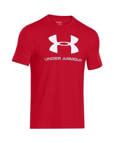 Under Armour Sportstyle Logo T-Shirt Maglia Maniche Corte Uomo, Red