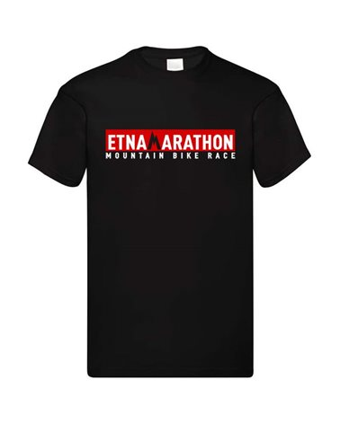 Etna Marathon Logo Men's T-Shirt, Black