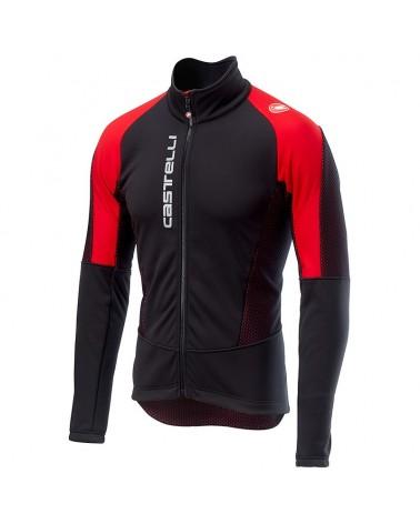 Castelli Mortirolo V Gore Windstopper Men's Cycling Jacketo, Black/Red