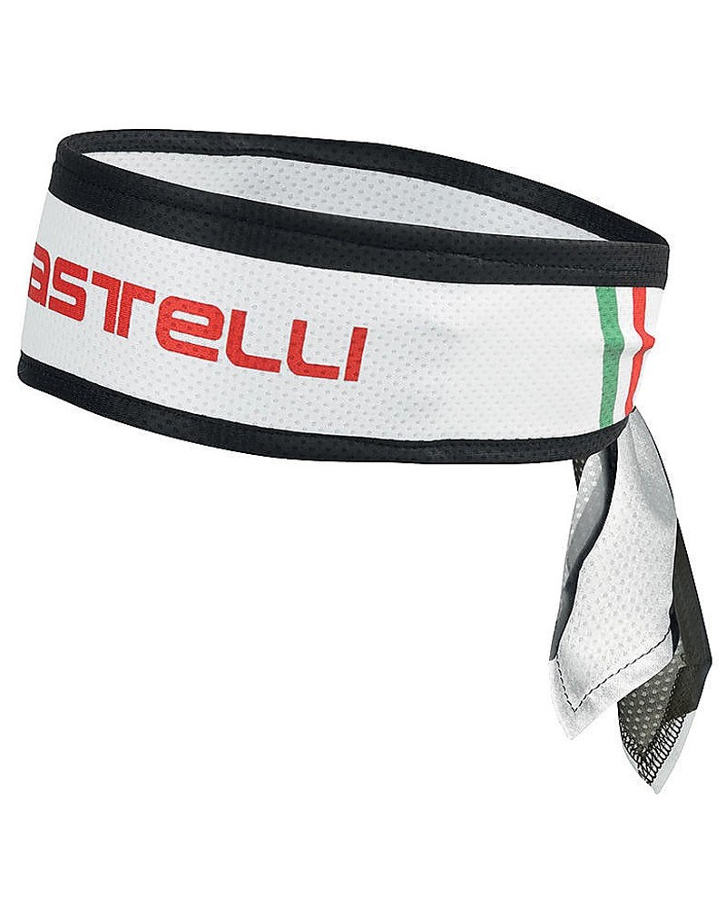Castelli Cycling Headband, White (One Size Fits All)