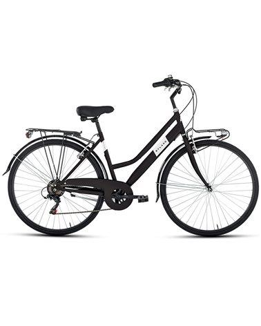 "BSA City Bike 28"" 6v Lady Size 46, Matte Black"