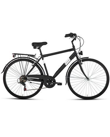 """BSA City Bike 28"""" 6v Gent Size 50, Matte Black"""