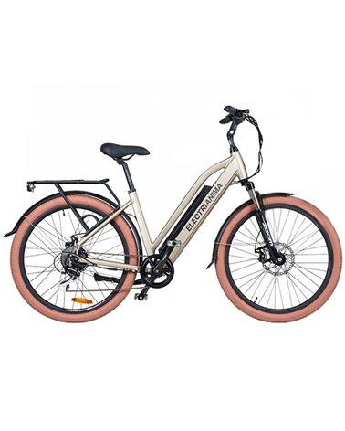 "Electri Aima 26"" e-Bike 250W Shimano Acera 8sp Disc Brake, Glossy Sand"