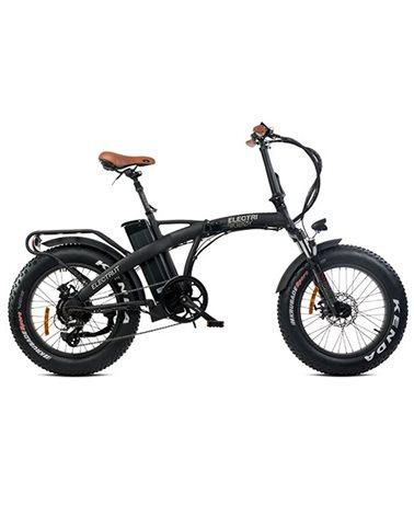 """Electri Big Boy 20"""" e-Bike Fat Folding 250W Shimano Altus 7sp Disc Brake, Matte Black"""