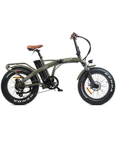 """Electri Big Boy 20"""" e-Bike Fat Folding 250W Shimano Altus 7sp Disc Brake, Matte Military Green"""