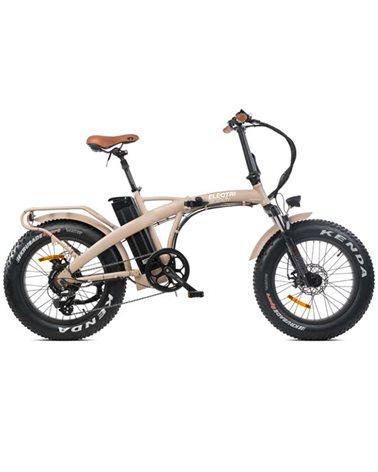 """Electri Big Boy 20"""" e-Bike Fat Folding 250W Shimano Altus 7sp Disc Brake, Matte Sand"""