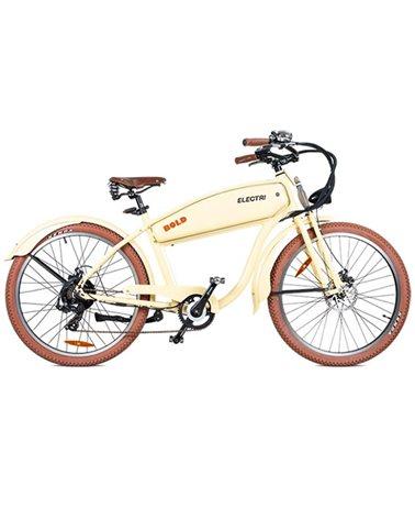 """Electri Bold 26"""" Cruiser e-Bike 250W Shimano 7sp Disc Brake, Glossy Beige"""
