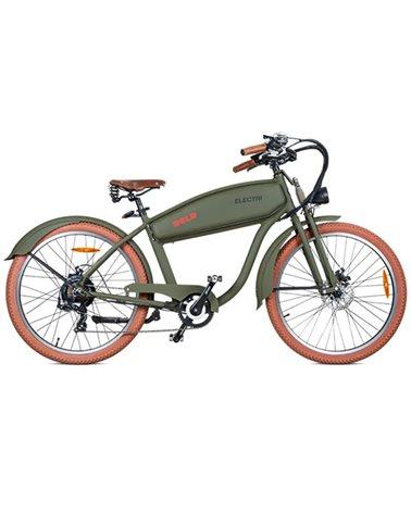 "Electri Bold 26"" Cruiser e-Bike 250W Shimano 7sp Disc Brake, Matte Military green"