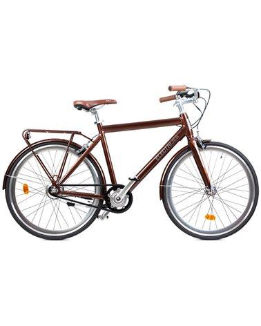 "Electri Jess 28"" e-Bike 250W  10.2Ah Panasonic Inegrated Battery, Glossy Rust"