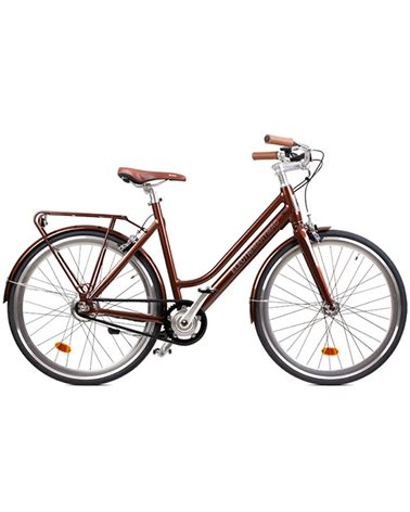 "Electri MaryMag 28"" e-Bike 250W  10.2Ah Panasonic Inegrated Battery, Glossy Rust"