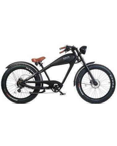 "Electri Warrior 26"" Chopper e-Bike Fat 250W Shimano Altus 7sp Disc Brake, Matte Black"