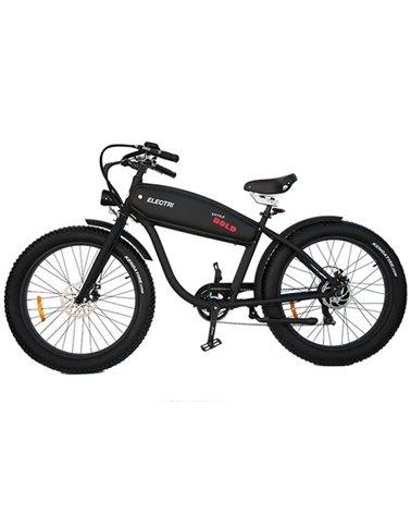 """Electri Extra Bold 26"""" e-Bike Fat 250W Shimano 7v Disc Brake, Matte Black"""