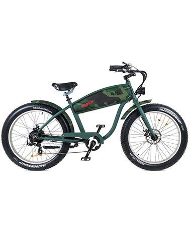 "Electri Extra Bold 26"" e-Bike Fat 250W Shimano 7v Disc Brake, Matte Camo Green"