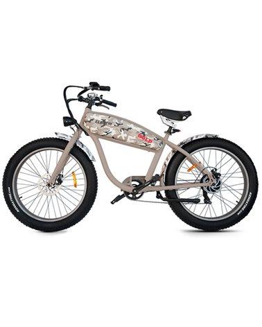 "Electri Extra Bold 26"" e-Bike Fat 250W Shimano 7v Disc Brake, Matte Camo Sand"
