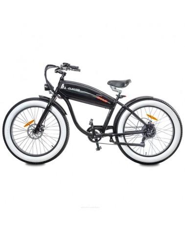 "Electri Extra Bold 26"" e-Bike Fat 250W Shimano 7v Disc Brake, Glossy Black"