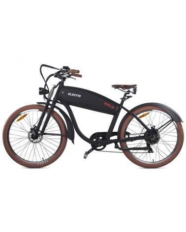 "Electri Bold 26"" Cruiser e-Bike 250W Shimano 7sp Disc Brake, Matte Black"