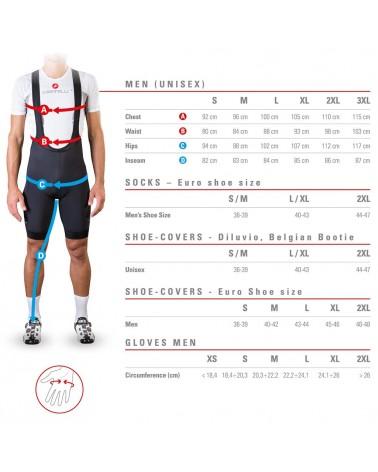 Castelli Espresso Men's Short Sleeve Cycling Jersey, Black/Red