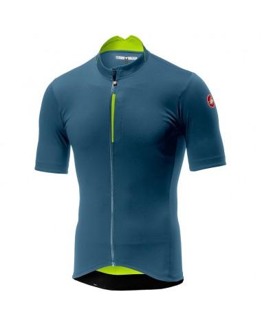 Castelli Espresso Men's Short Sleeve Cycling Jersey, Light Steel Blue