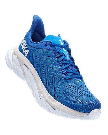 Hoka One One Clifton Edge Men's Running Shoes, Turkish Sea/White
