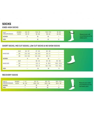 Cep Nighttech Compression Men's Running Socks, Black