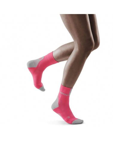 Cep Compression Short Socks 3.0 Women's Multisport Socks, Rose/Light Grey