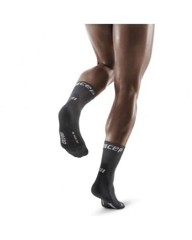 Cep Winter Run Short Calze Corte a Compressione Running Uomo, Grey/Black