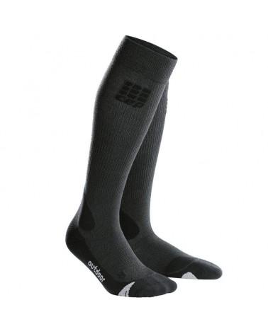Cep Hiking Merino Men's Hiking Socks, Grey/Black