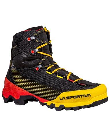 La Sportiva Aequilibrium ST GTX Gore-Tex Men's Mountaineering Boots, Black/Yellow
