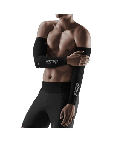 Cep Unisex Compression Arm Sleeves L2, Black/Dark Grey