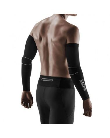 Cep Unisex Compression Arm Sleeves L2, Black/Dark Grey