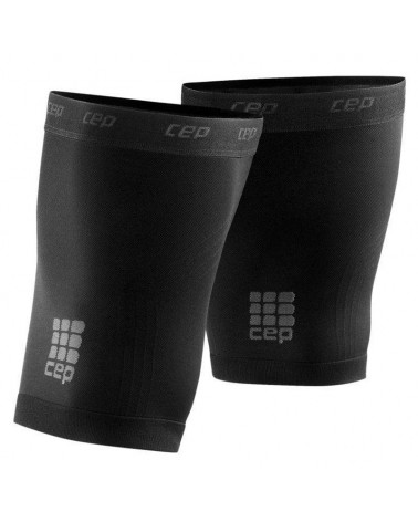 Cep Quad Sleeves 3.0 Dynamic+ Gambaletti Quadricipi a Compressione Unisex, Black/Dark Grey