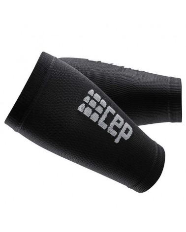 Cep Unisex Compression Forearm Sleeves, Black/Dark Grey