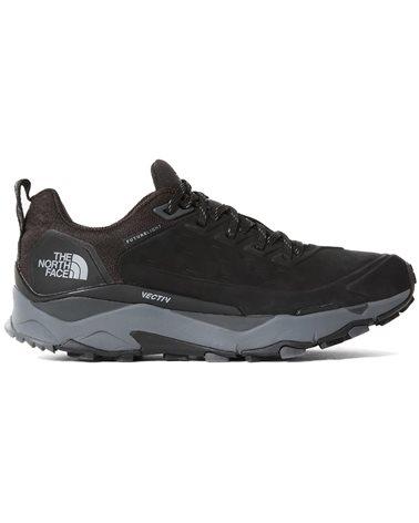 The North Face Vectiv Futurelight Exploris Men's Hiking Nubuk Leather Shoes, TNF Black/Zinc Grey