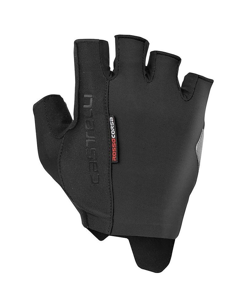 Castelli Rosso Corsa Espresso Men's Cycling Short Fingers Gloves, Black