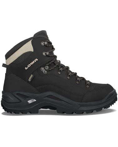 Lowa Renegade MID GTX Gore-Tex Men's All Terrain Classic Boots, Black/Pebble