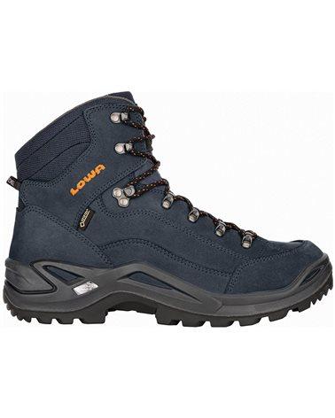 Lowa Renegade MID GTX Gore-Tex Men's All Terrain Classic Boots, Navy/Orange