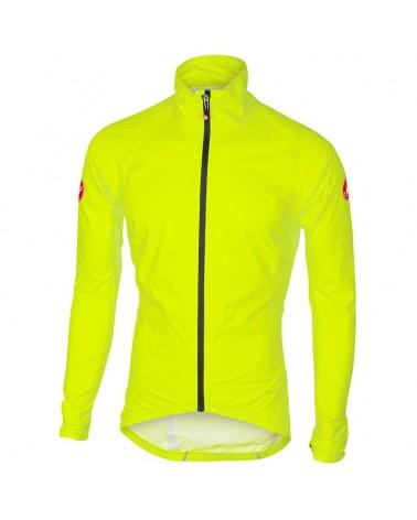 Castelli Emergency Rain Giacca Uomo Antipioggia/Antivento, Yellow Fluo