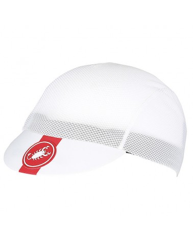 Castelli A/C Cycling Cap, White (One Size Fits All)