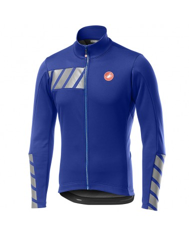 Castelli Raddoppia 2 Jacket GTX Gore-Tex Windstopper Men's Full Protection Cycling Jacket, Rescue Blue